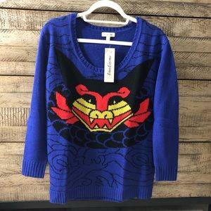 Urban Outfitters Dragon Sweater Sz Small